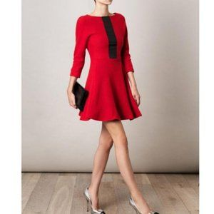 MARC by Marc Jacobs Red Blythe 100% Wool Casual Dress